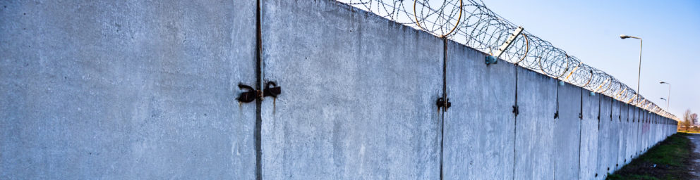 wall with barbwire