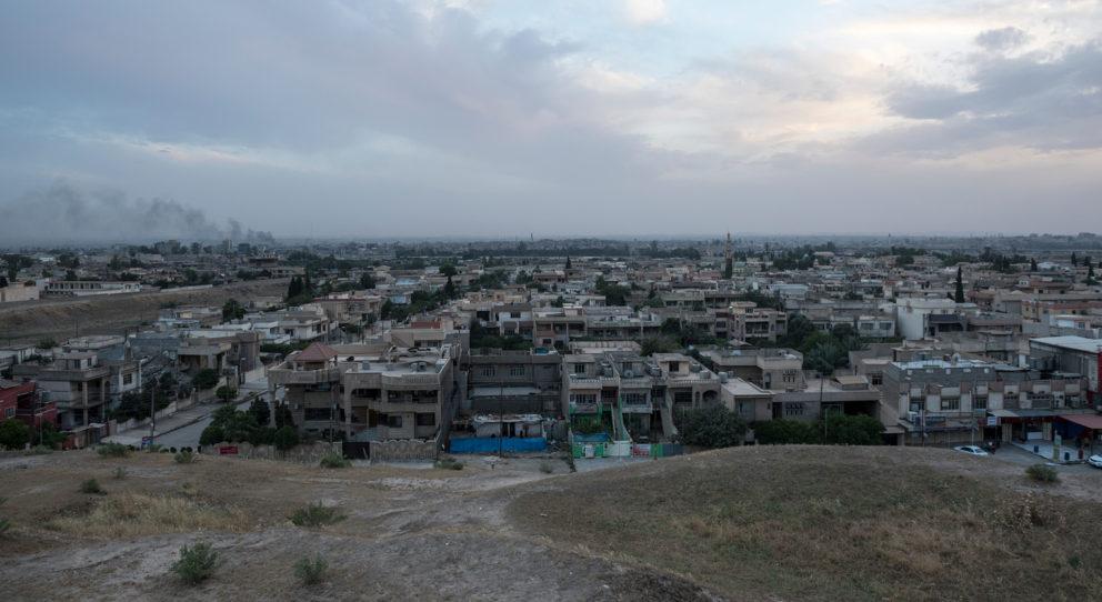 Yazidi city shot