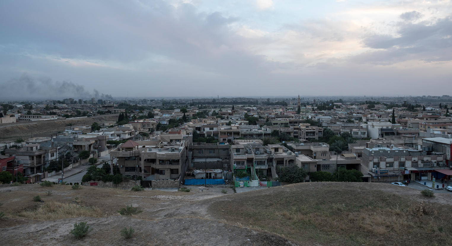 Yazidi city shot