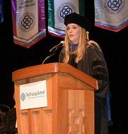 Graduate Speaking at Ceremony