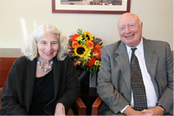 Larry and Marilyn Cohen smiling