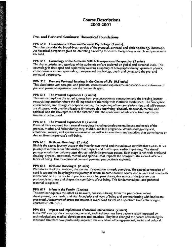 SBGI 2000-2001 Catalog, pg 28-40 - The Chicago School of